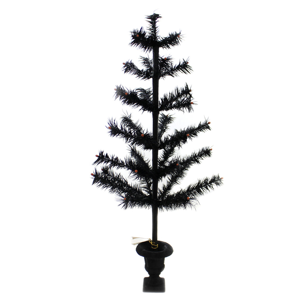 Black Feather Tree Lg8388 Halloween Bottle Brush Trees And Feather Trees And Tinsel Trees And Decorative Trees - SBKGIFTS.COM - SBK Gifts Christmas Shop Cincinnati - Story Book Kids