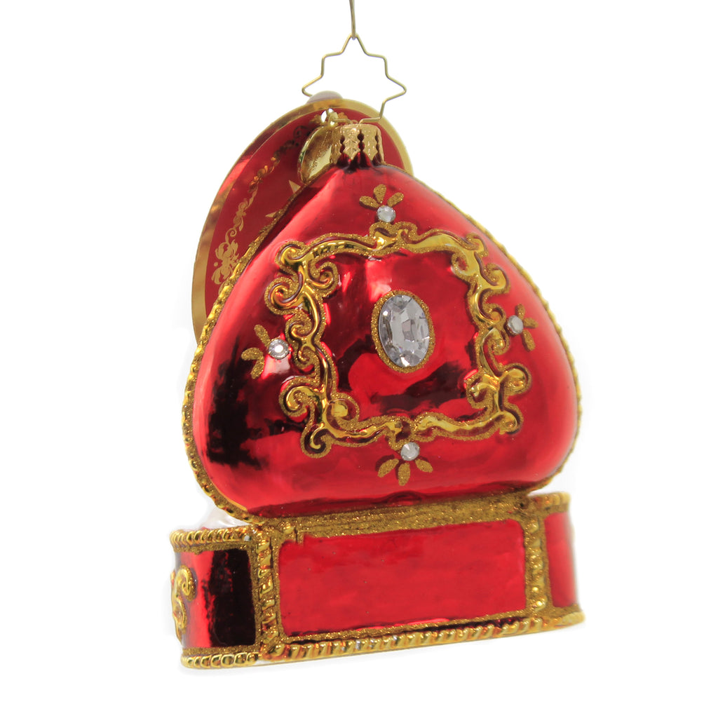 Forever & Always Ring Box 1020185 Glass Ornaments - SBKGIFTS.COM - SBK Gifts Christmas Shop Cincinnati - Story Book Kids