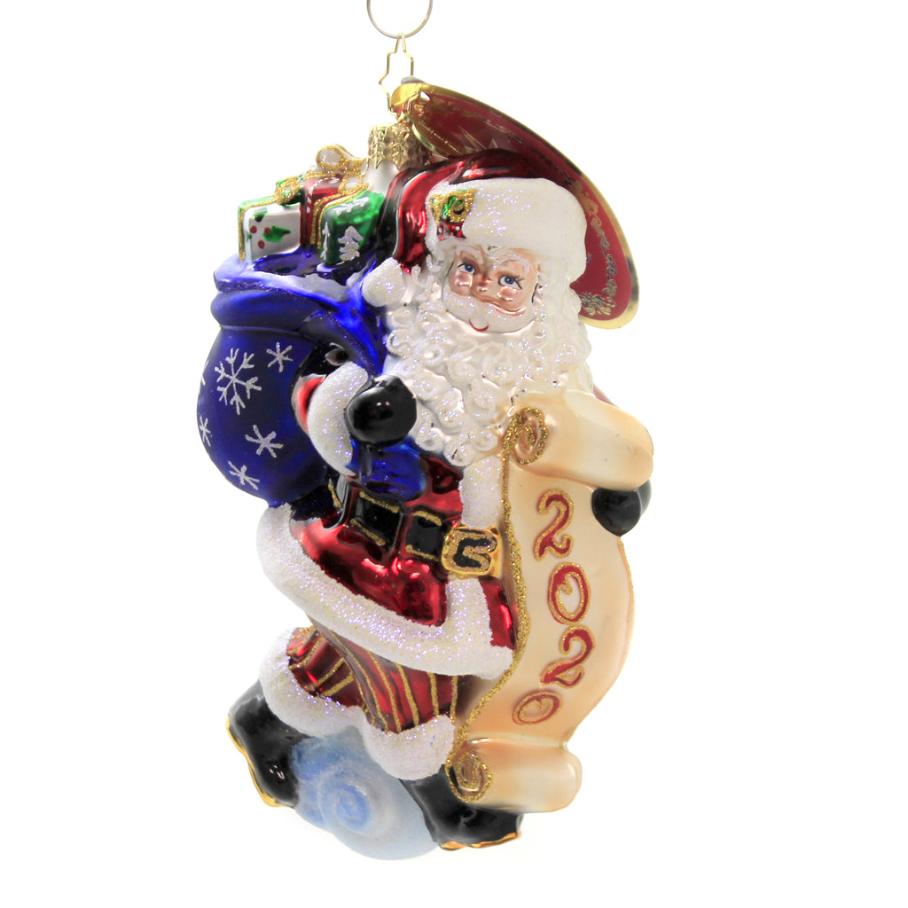 Santa Saves The Date 1020223 Glass Ornaments - SBKGIFTS.COM - SBK Gifts Christmas Shop Cincinnati - Story Book Kids