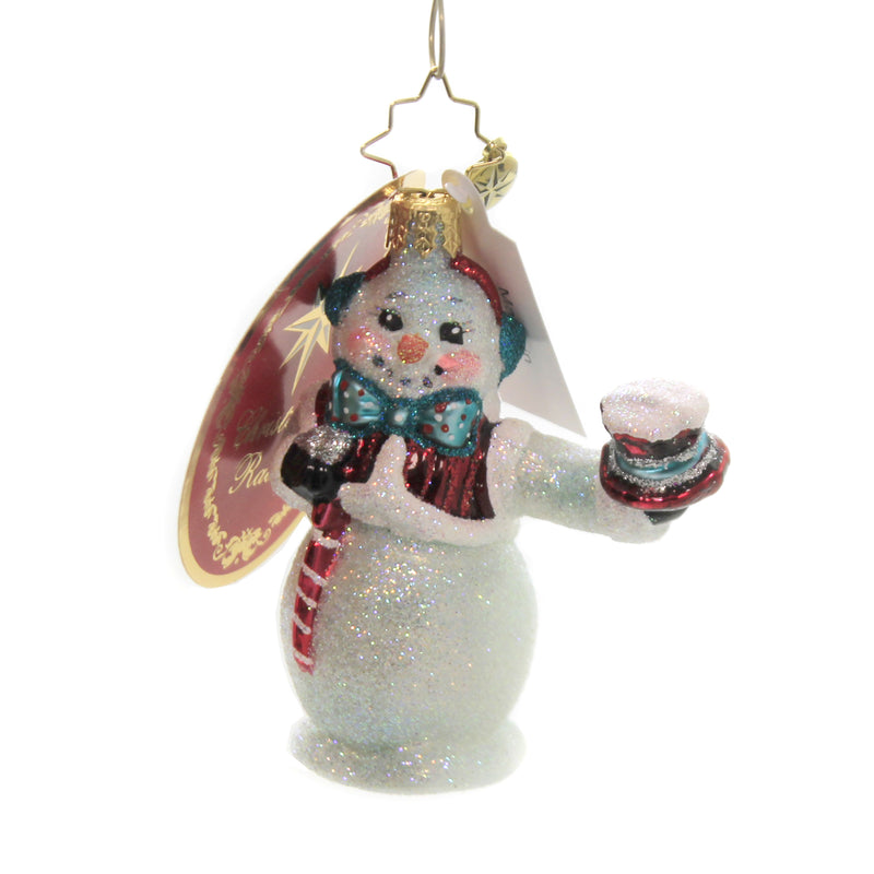 Hats Off Snowman Gem 1020234 Glass Ornaments - SBKGIFTS.COM - SBK Gifts Christmas Shop Cincinnati - Story Book Kids