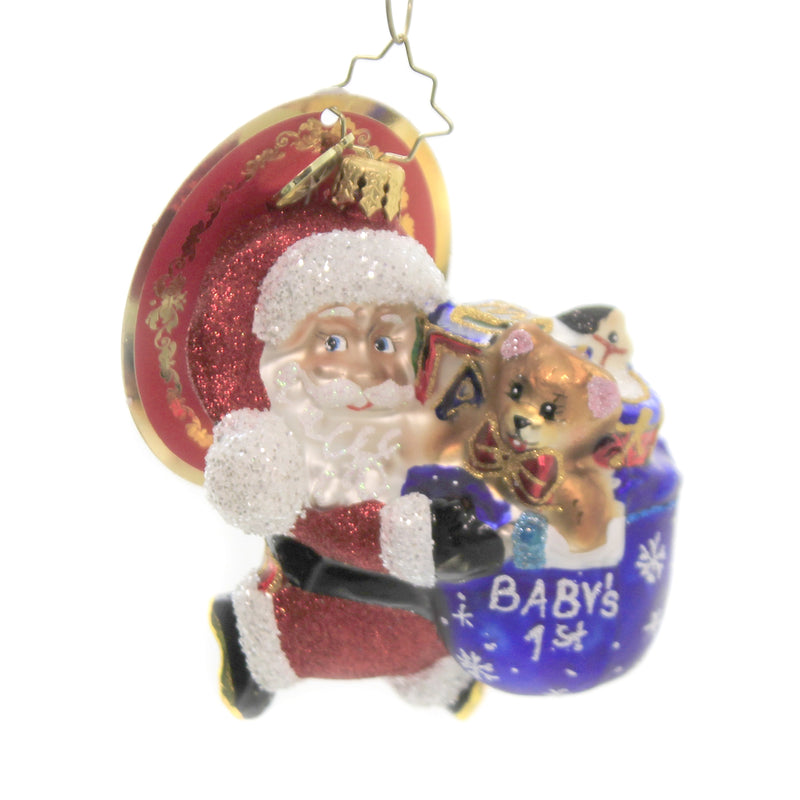 Hurry Santa Gem 1020243 Glass Ornaments - SBKGIFTS.COM - SBK Gifts Christmas Shop Cincinnati - Story Book Kids