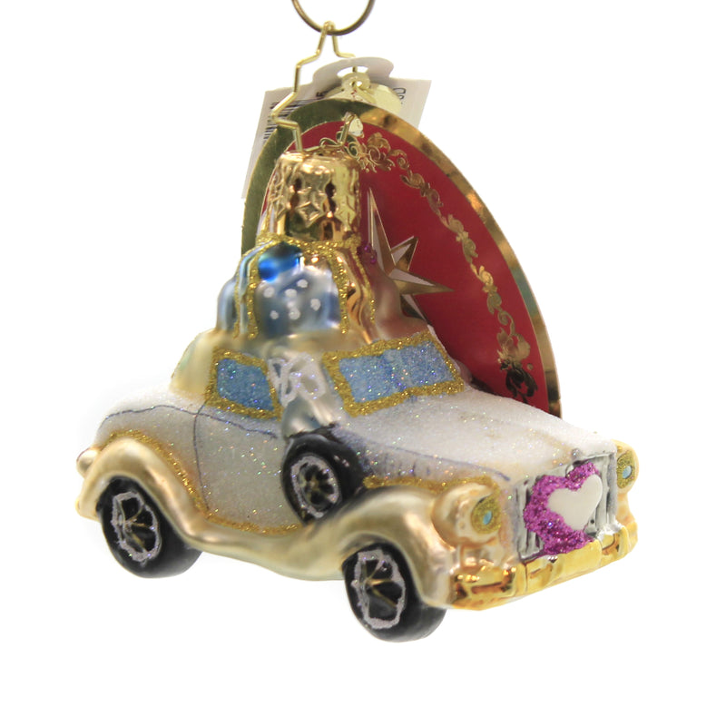 Wedding Bliss Chariot Gem 1020250 Glass Ornaments - SBKGIFTS.COM - SBK Gifts Christmas Shop Cincinnati - Story Book Kids