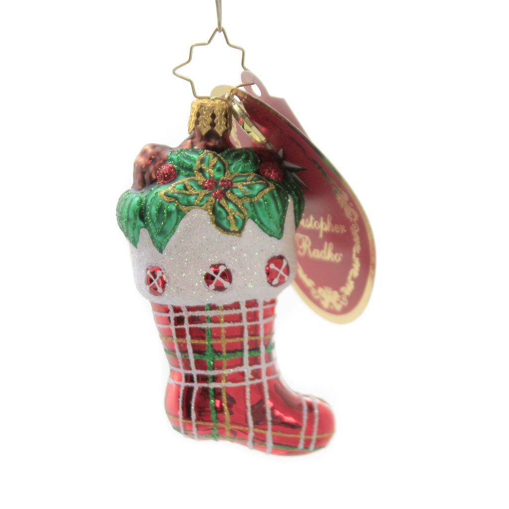 Classic Country Stocking Gem 1020269 Glass Ornaments - SBKGIFTS.COM - SBK Gifts Christmas Shop Cincinnati - Story Book Kids