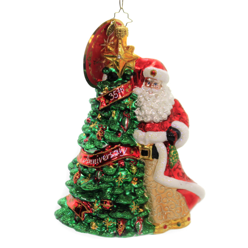 Cheers To 35 Years 1020531 Glass Ornaments - SBKGIFTS.COM - SBK Gifts Christmas Shop Cincinnati - Story Book Kids