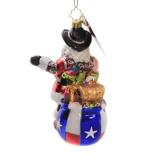 Boot Scootin Santa 1020213 Glass Ornaments - SBKGIFTS.COM - SBK Gifts Christmas Shop Cincinnati - Story Book Kids
