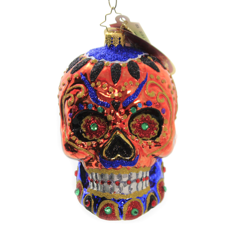 Colorful Calavera 1020544 Glass Ornaments - SBKGIFTS.COM - SBK Gifts Christmas Shop Cincinnati - Story Book Kids