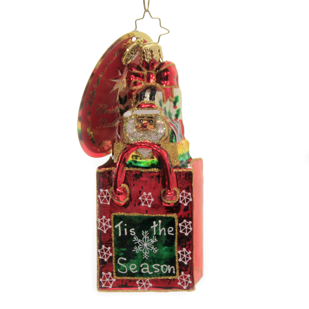 Santas Holiday Tote 1020369 Glass Ornaments - SBKGIFTS.COM - SBK Gifts Christmas Shop Cincinnati - Story Book Kids