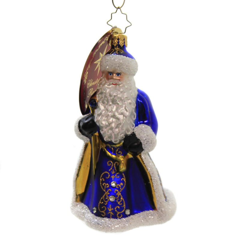 Looking Royal In Blue 1020401 Glass Ornaments - SBKGIFTS.COM - SBK Gifts Christmas Shop Cincinnati - Story Book Kids