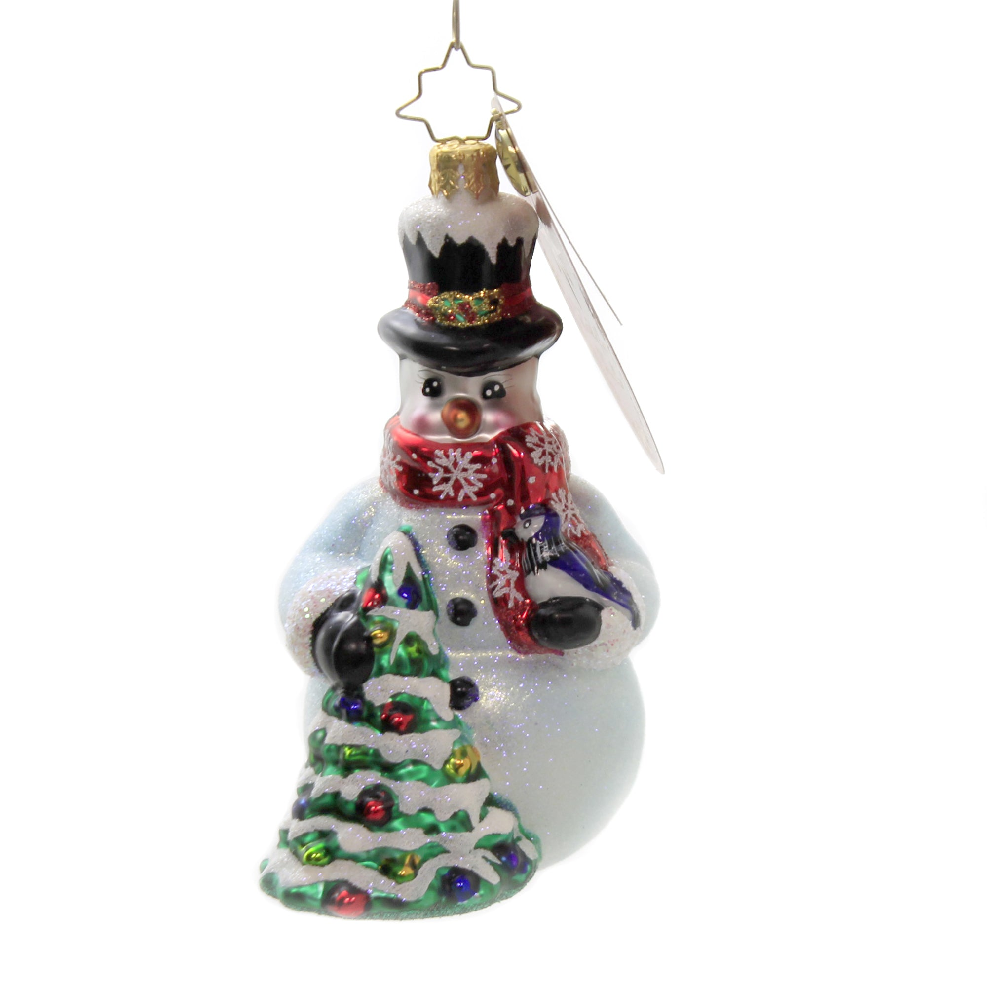 Christopher Radko A Bird In The Hand 1020364 Decorative Hanging Ornaments Sbk Gifts Sbkgifts Com