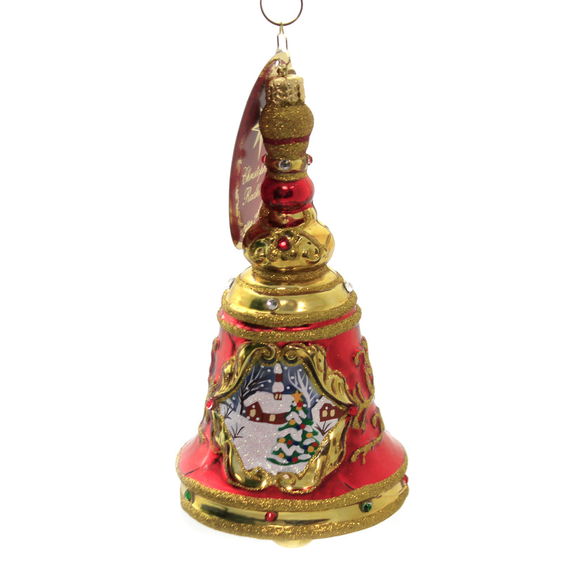 Pristine Scene Bell 1020434 Glass Ornaments - SBKGIFTS.COM - SBK Gifts Christmas Shop Cincinnati - Story Book Kids