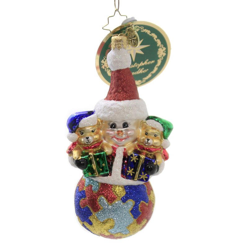 A Perfect Puzzle 1020349 Glass Ornaments - SBKGIFTS.COM - SBK Gifts Christmas Shop Cincinnati - Story Book Kids