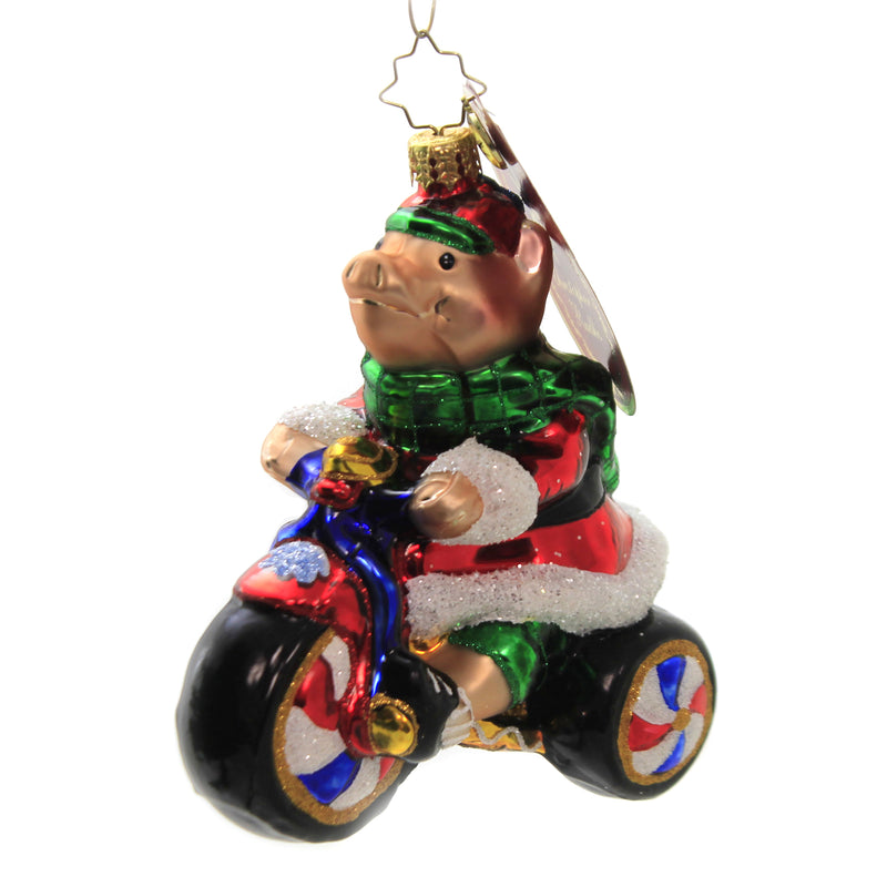 Peddler Piggy 1020355 Glass Ornaments - SBKGIFTS.COM - SBK Gifts Christmas Shop Cincinnati - Story Book Kids