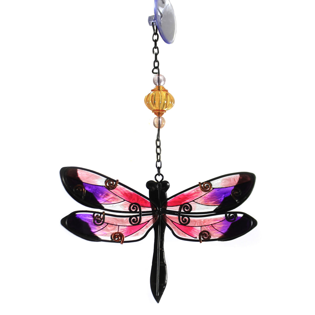 Pink Dragonfly Sun Catcher 11914 Home & Garden Home Decor - SBKGIFTS.COM - SBK Gifts Christmas Shop Cincinnati - Story Book Kids