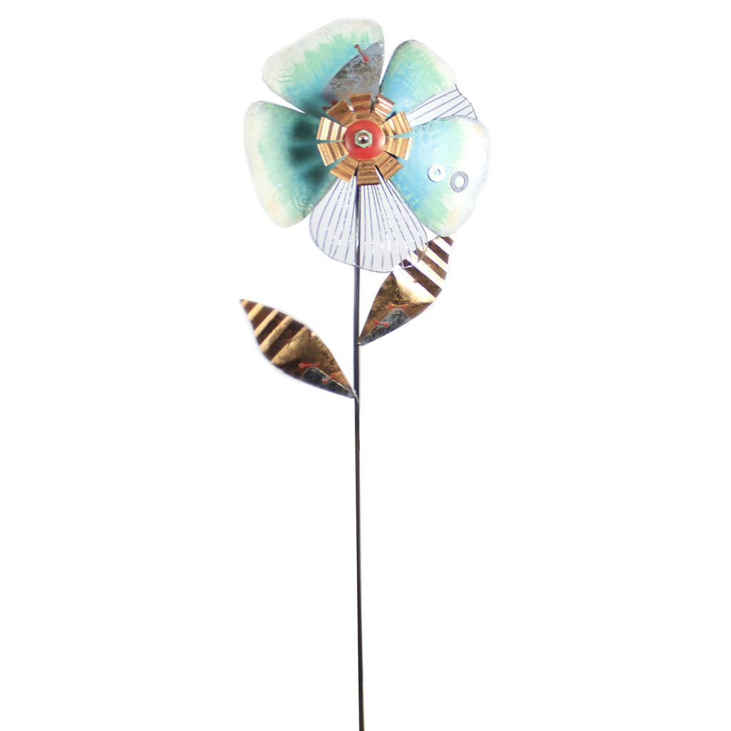 Nuts & Bolts Flower Stake Blue 12235 Home & Garden Decorative Stakes And Pokes And Plant Sticks - SBKGIFTS.COM - SBK Gifts Christmas Shop Cincinnati - Story Book Kids
