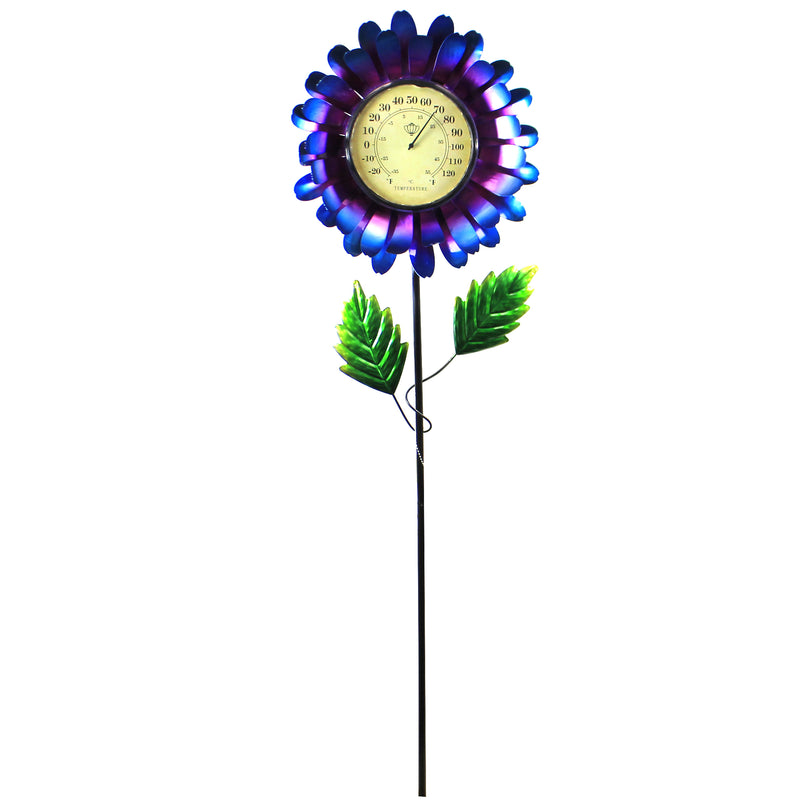 Blue Thermometer Solar Stake 12708 Home & Garden Decorative Stakes And Pokes And Plant Sticks - SBKGIFTS.COM - SBK Gifts Christmas Shop Cincinnati - Story Book Kids