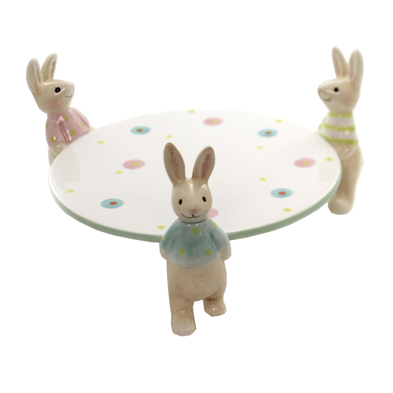 Three Bunny Cake 46004111 Tabletop Plates And Platters - SBKGIFTS.COM - SBK Gifts Christmas Shop Cincinnati - Story Book Kids
