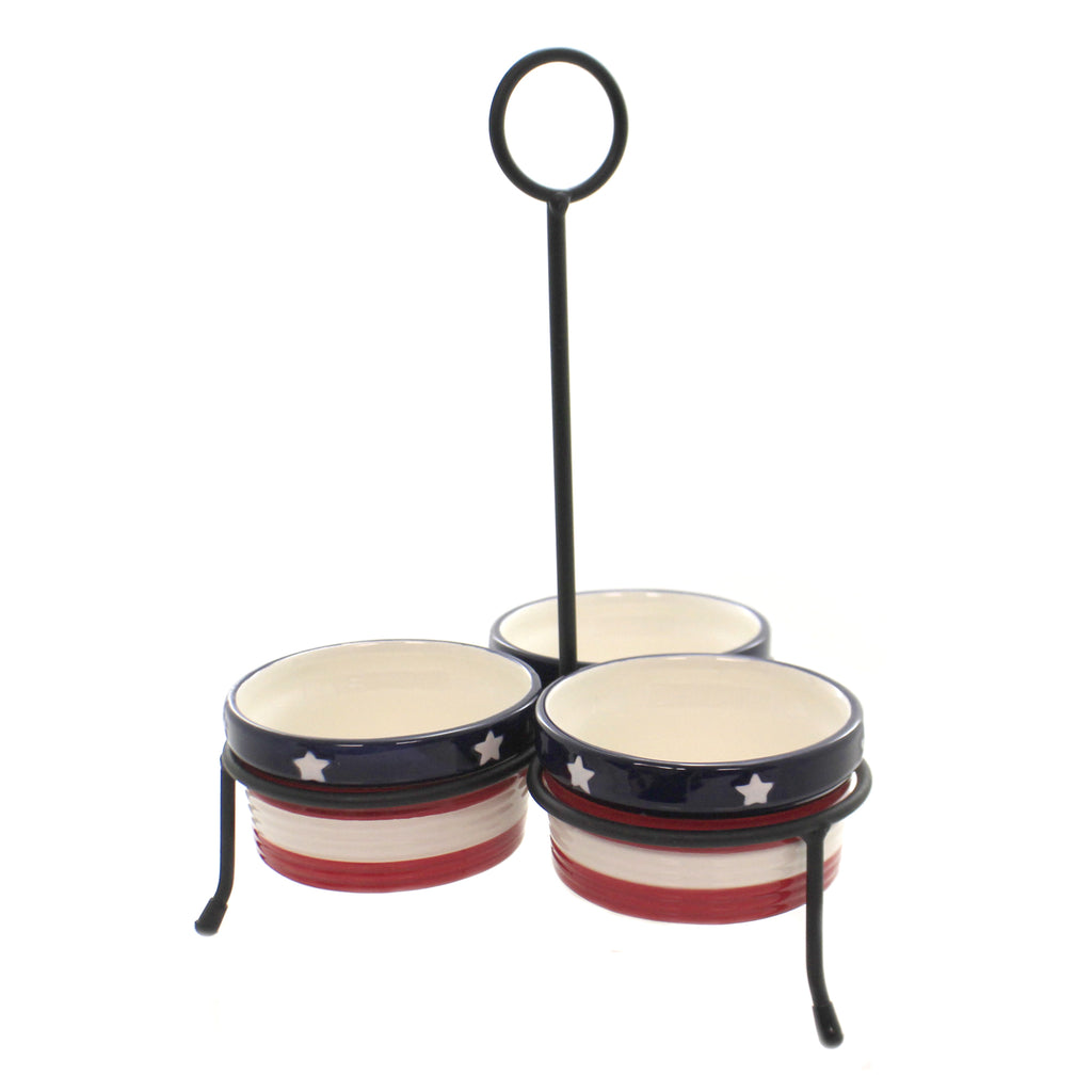 Patriotic Condiment Server 46004123 Tabletop Other Decorative Serveware And Kitchen Accessories - SBKGIFTS.COM - SBK Gifts Christmas Shop Cincinnati - Story Book Kids