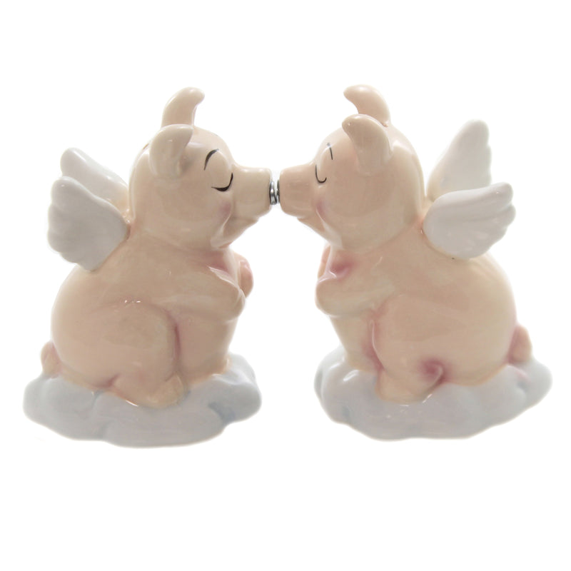 Kissing Flying Pigs Set/2 8622 Tabletop Salt And Pepper Shakers - SBKGIFTS.COM - SBK Gifts Christmas Shop Cincinnati - Story Book Kids