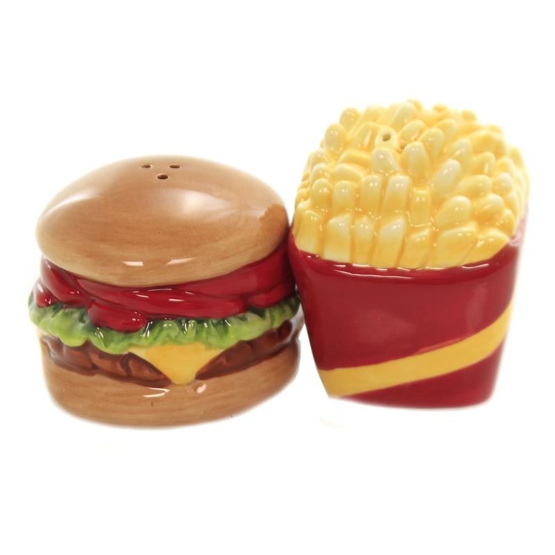 Kisisng Burger & Fries Set/2 8996 Tabletop Salt And Pepper Shakers - SBKGIFTS.COM - SBK Gifts Christmas Shop Cincinnati - Story Book Kids