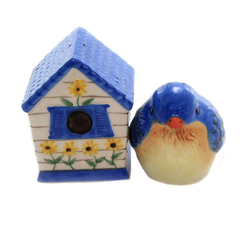 Kissing Blue Bird & House Set/2 9089 Tabletop Salt And Pepper Shakers - SBKGIFTS.COM - SBK Gifts Christmas Shop Cincinnati - Story Book Kids