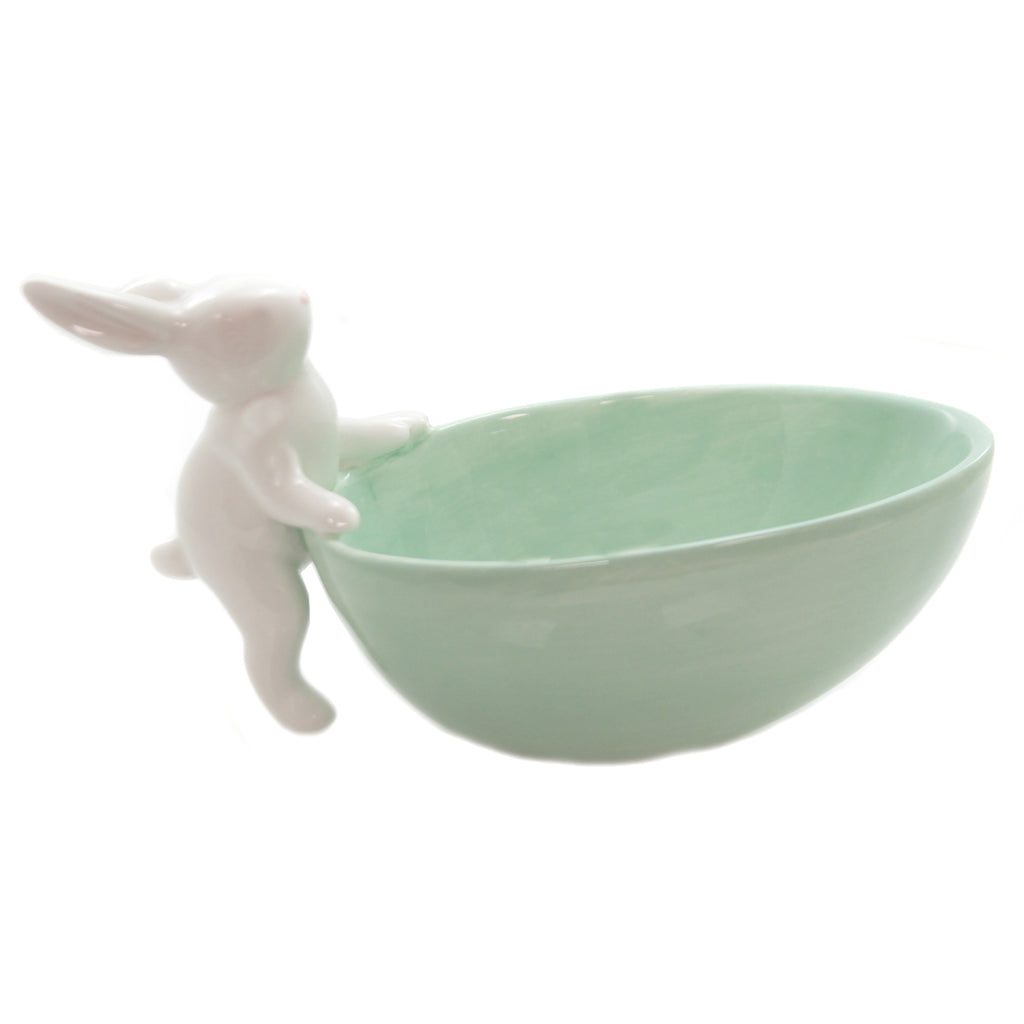 Bowl With Climbing Bunny 46004110 Tabletop Serving Bowls - SBKGIFTS.COM - SBK Gifts Christmas Shop Cincinnati - Story Book Kids