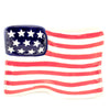 Flag Shaped Plate 46004120 Tabletop Plates And Platters - SBKGIFTS.COM - SBK Gifts Christmas Shop Cincinnati - Story Book Kids