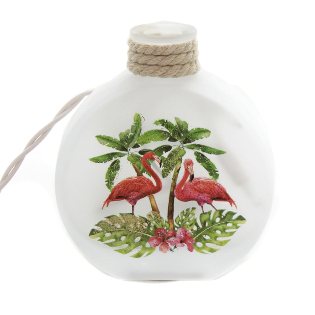 Flamingo Oval Jar With Rope Jmf0217 Stony Creek Lighted Decor - SBKGIFTS.COM - SBK Gifts Christmas Shop Cincinnati - Story Book Kids