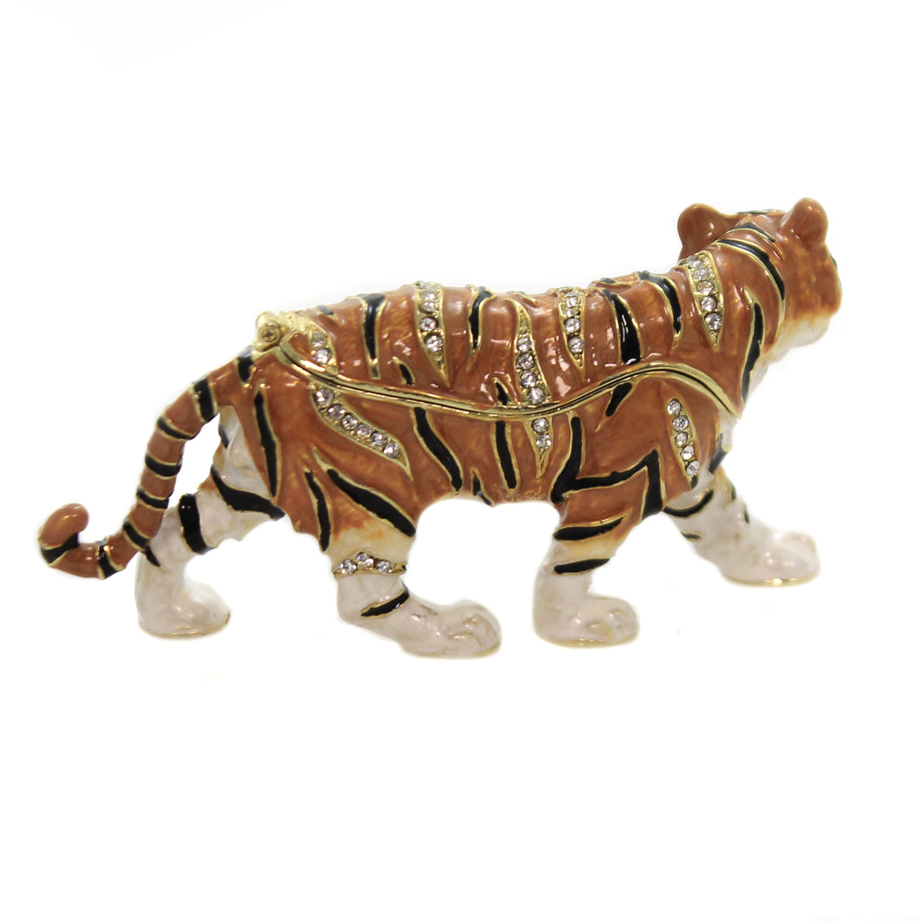 Tiger Enamel Hinge Box 3024 Hinged Trinket Box Hinged Trinket Boxes And Trinket Boxes - SBKGIFTS.COM - SBK Gifts Christmas Shop Cincinnati - Story Book Kids