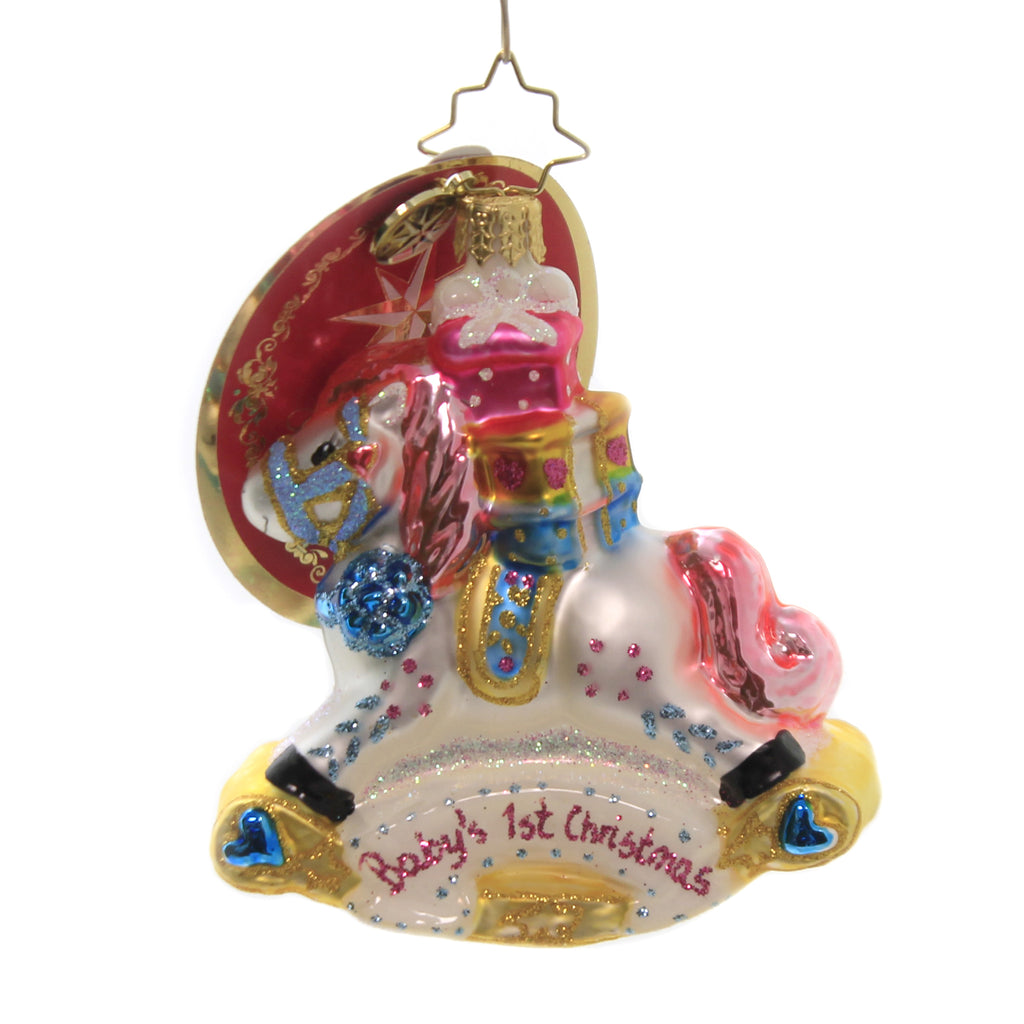 Rockin Newborn 1018765 Glass Ornaments - SBKGIFTS.COM - SBK Gifts Christmas Shop Cincinnati - Story Book Kids