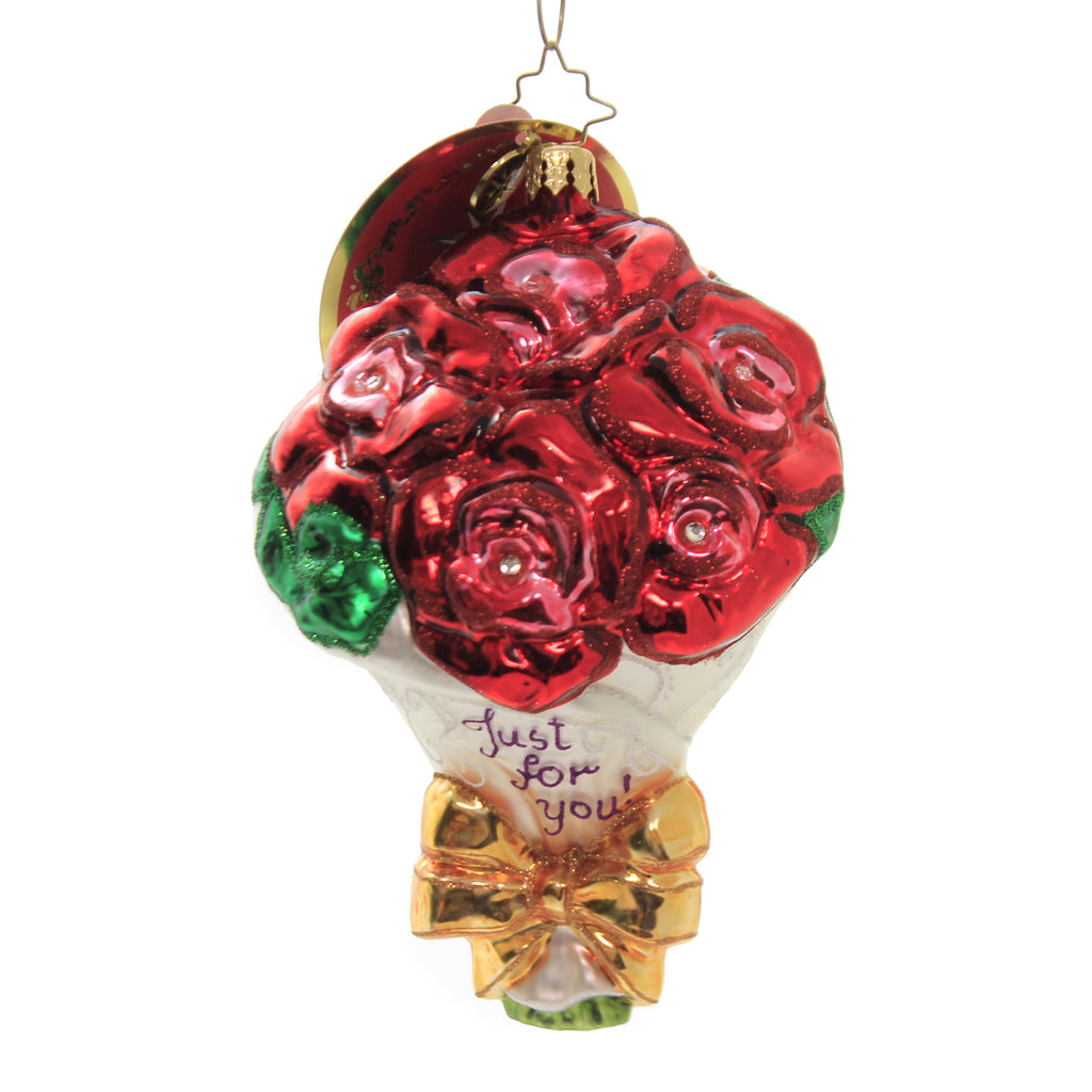 Just For You ! 1018007 Glass Ornaments - SBKGIFTS.COM - SBK Gifts Christmas Shop Cincinnati - Story Book Kids