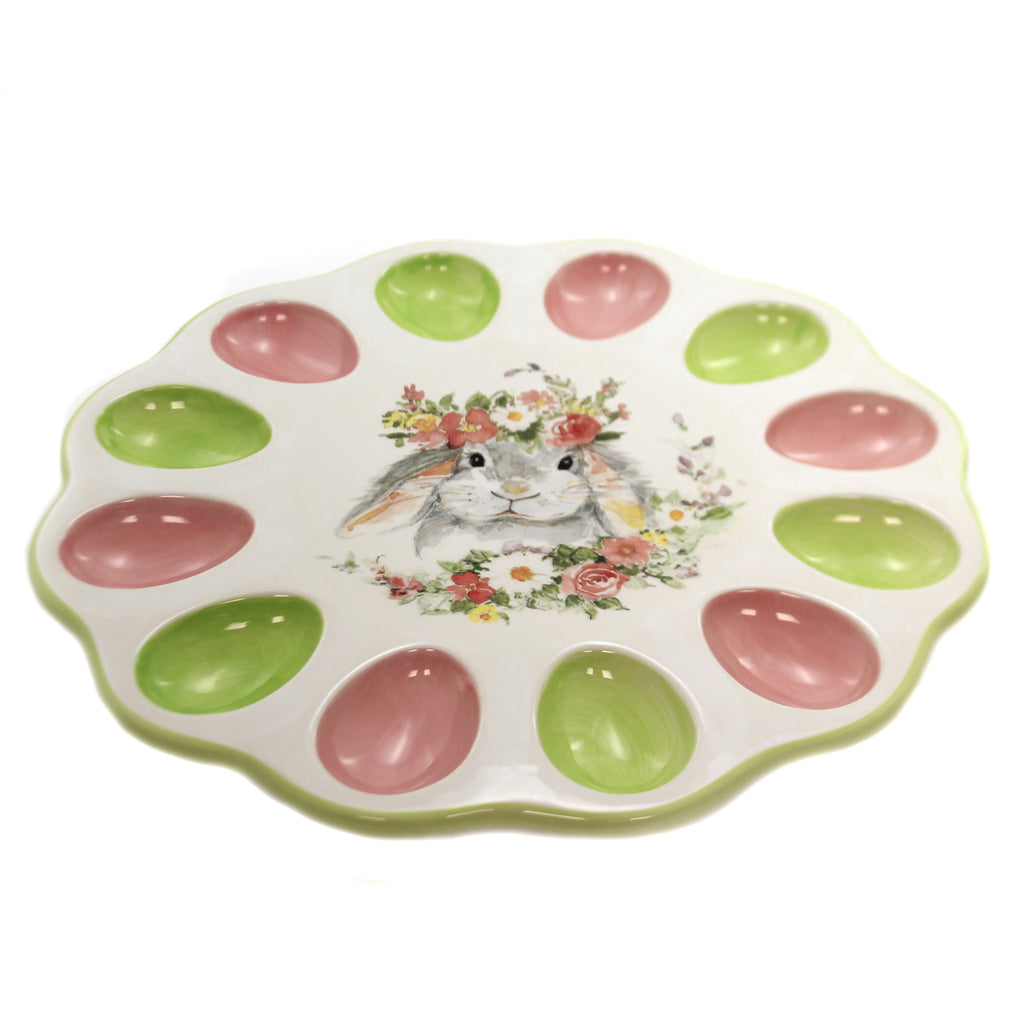 Sweet Bunny Deviled Egg Plate 23247 Tabletop Plates And Platters - SBKGIFTS.COM - SBK Gifts Christmas Shop Cincinnati - Story Book Kids