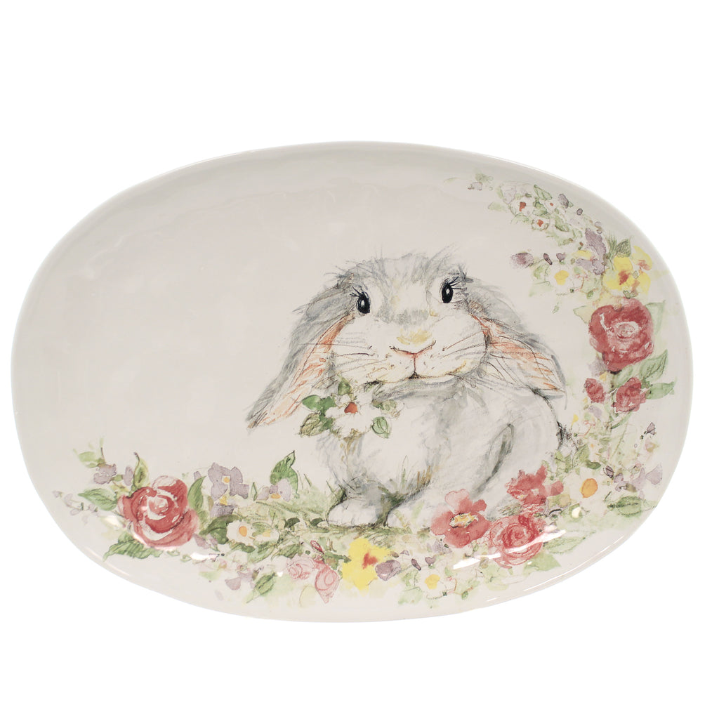 Sweet Bunny Oval Platter 23235 Tabletop Plates And Platters - SBKGIFTS.COM - SBK Gifts Christmas Shop Cincinnati - Story Book Kids