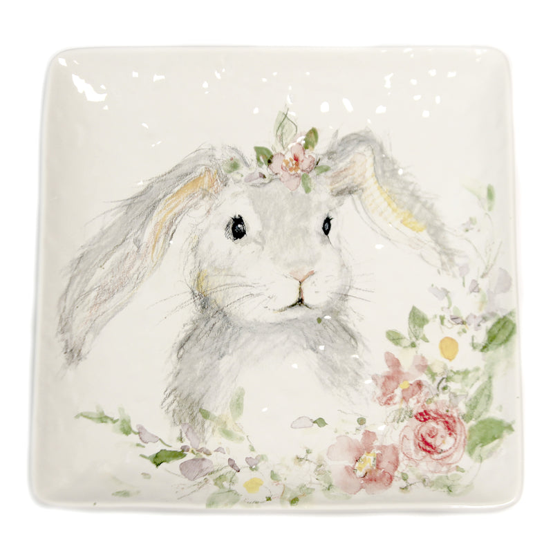 Sweet Bunny Square Platter 23236 Tabletop Plates And Platters - SBKGIFTS.COM - SBK Gifts Christmas Shop Cincinnati - Story Book Kids
