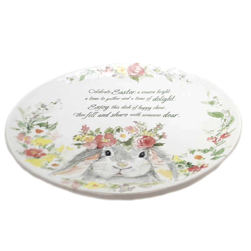 Sweet Bunny Pass Along Plate 23237 Tabletop Plates And Platters - SBKGIFTS.COM - SBK Gifts Christmas Shop Cincinnati - Story Book Kids