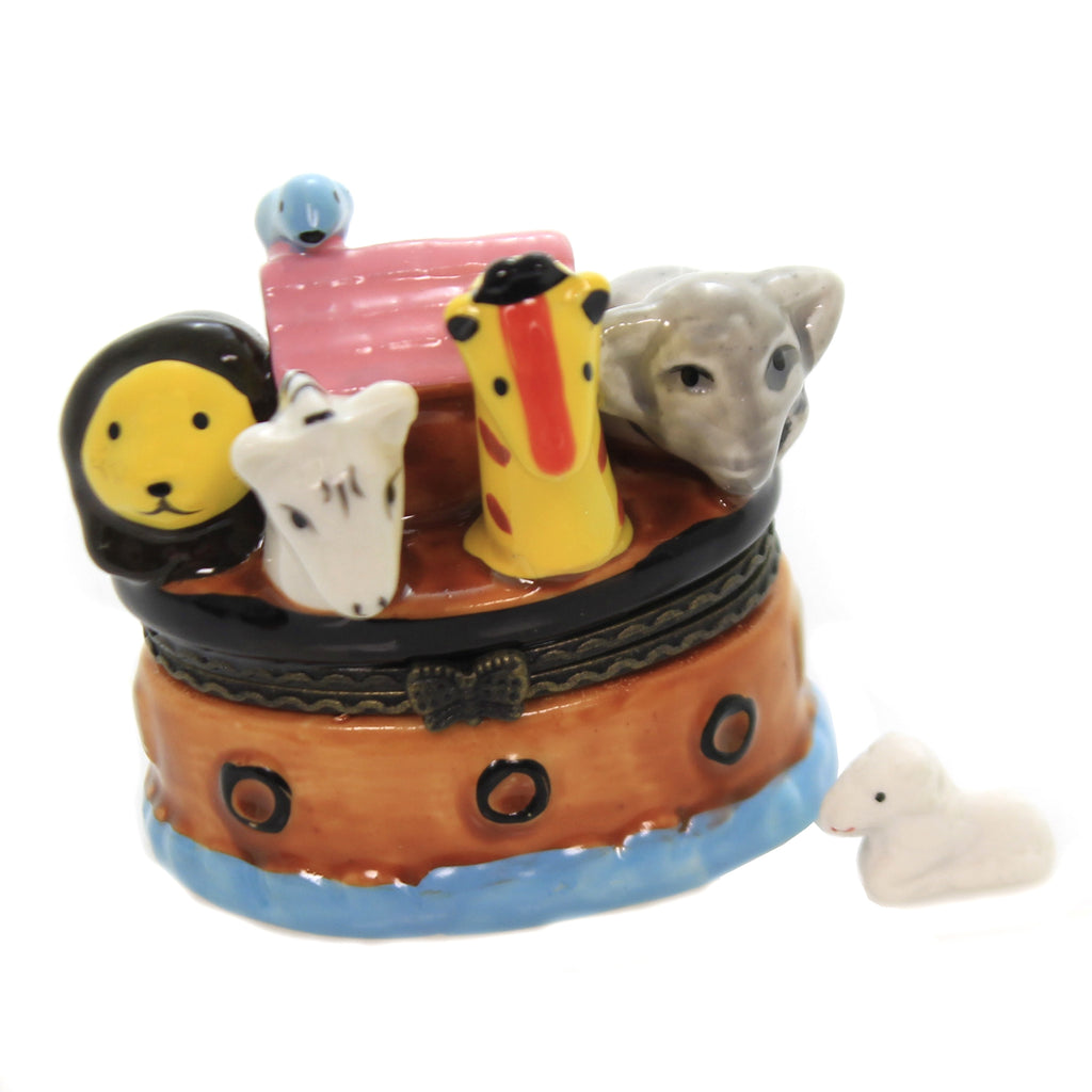 Noah Ark Box Eb49 Hinged Trinket Box Hinged Trinket Boxes And Trinket Boxes - SBKGIFTS.COM - SBK Gifts Christmas Shop Cincinnati - Story Book Kids