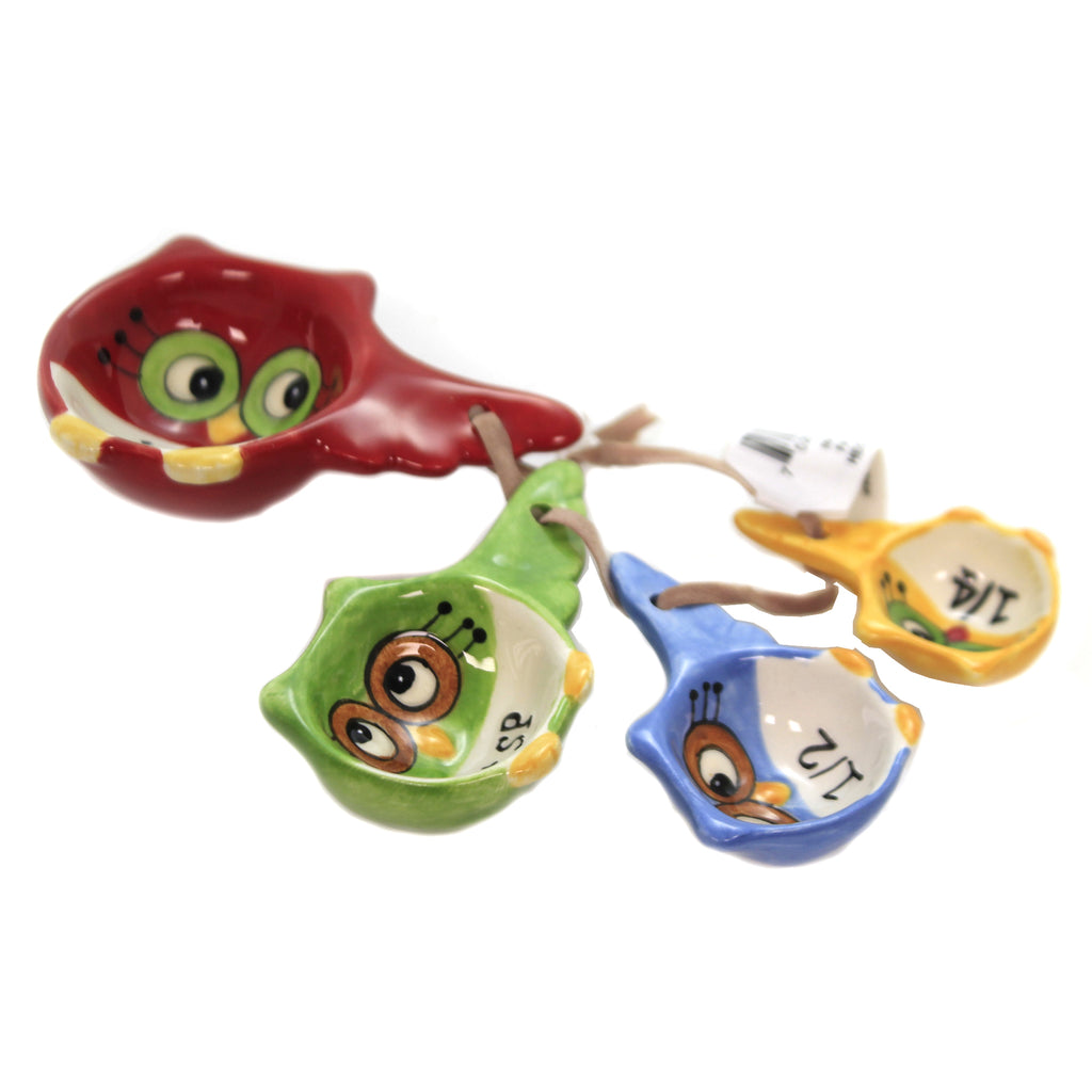 Owl Measuring Spoons 10910 Tabletop Other Decorative Serveware And Kitchen Accessories - SBKGIFTS.COM - SBK Gifts Christmas Shop Cincinnati - Story Book Kids