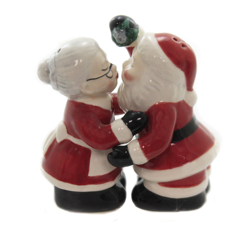 Kissing Santa Couple 10719 Tabletop Salt And Pepper Shakers - SBKGIFTS.COM - SBK Gifts Christmas Shop Cincinnati - Story Book Kids