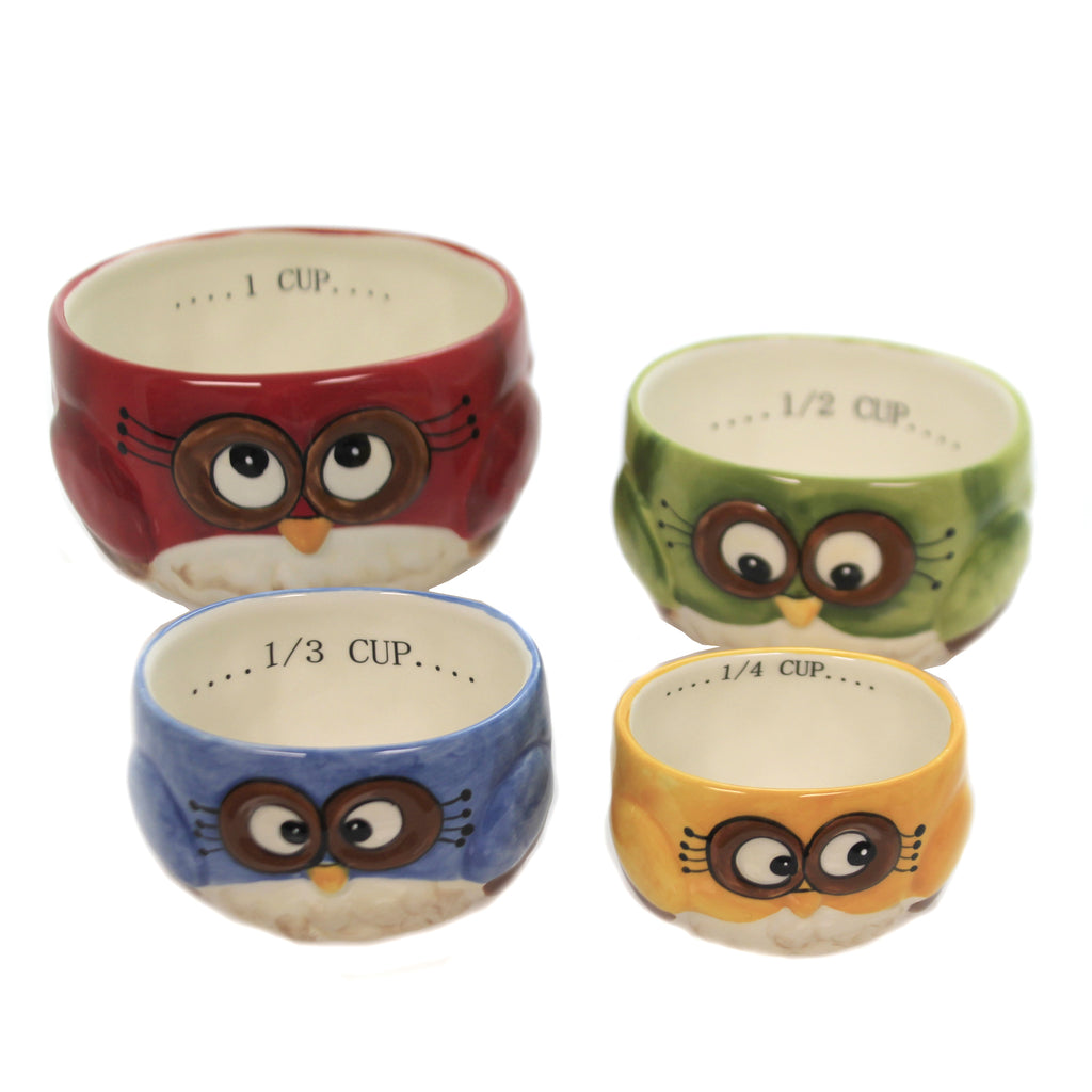 Owl Measuring Cups 10911 Tabletop Other Decorative Serveware And Kitchen Accessories - SBKGIFTS.COM - SBK Gifts Christmas Shop Cincinnati - Story Book Kids