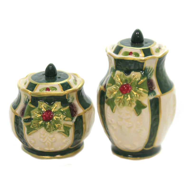 Emerald Holly Salt & Pepper Set 10307 Tabletop Salt And Pepper Shakers - SBKGIFTS.COM - SBK Gifts Christmas Shop Cincinnati - Story Book Kids