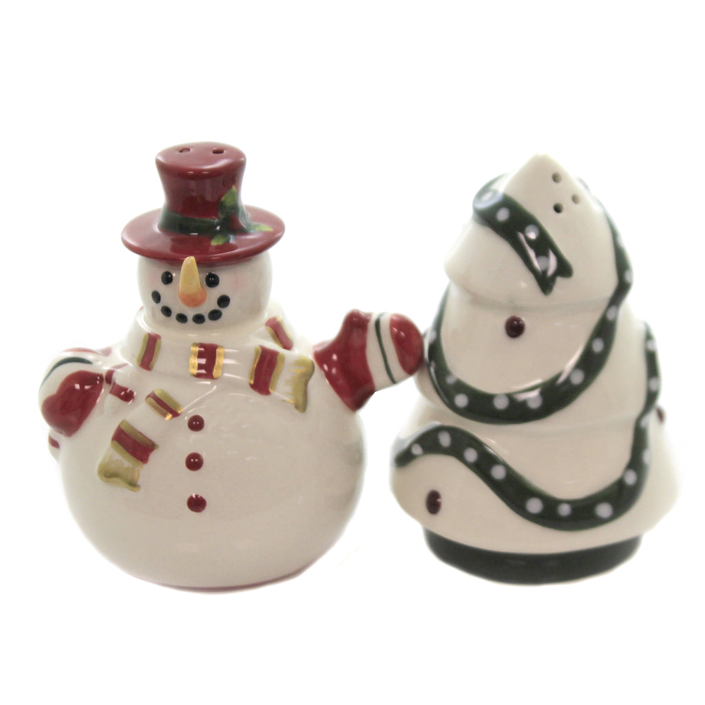 Snowman & Tree Salt & Pepper 61005 Tabletop Salt And Pepper Shakers - SBKGIFTS.COM - SBK Gifts Christmas Shop Cincinnati - Story Book Kids