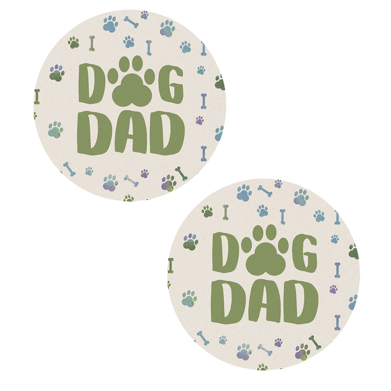 Dog Dad Car Coasters Cc73822 Tabletop Coasters - SBKGIFTS.COM - SBK Gifts Christmas Shop Cincinnati - Story Book Kids