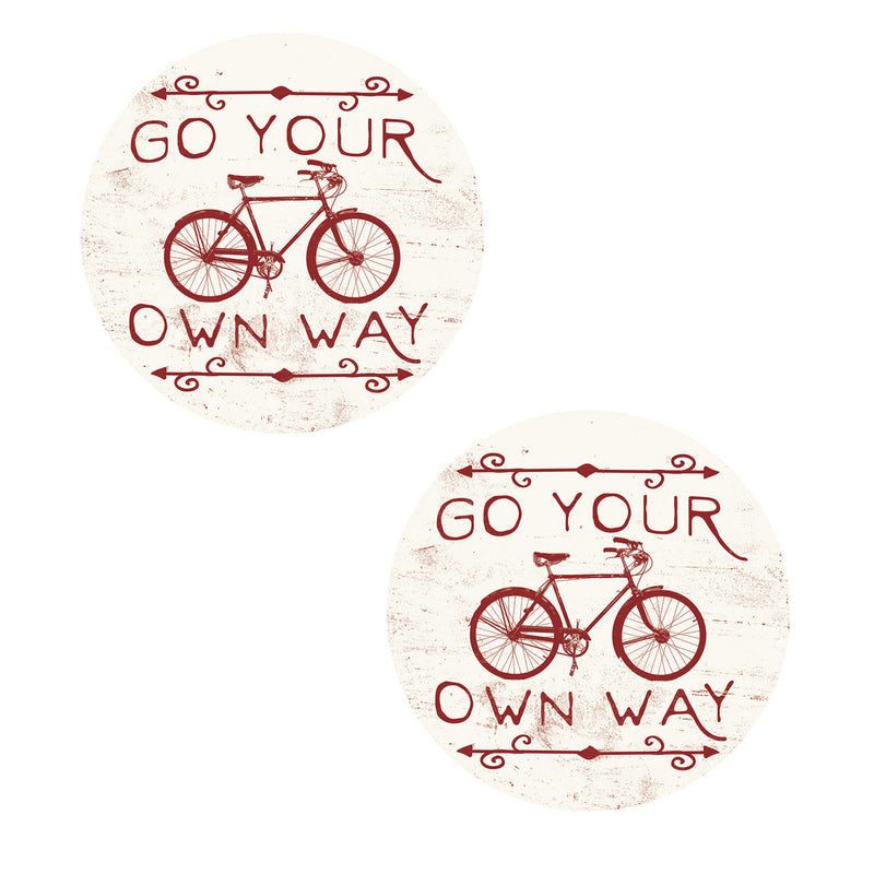 Go Your Own Way Car Coaster Cc73232 Tabletop Coasters - SBKGIFTS.COM - SBK Gifts Christmas Shop Cincinnati - Story Book Kids