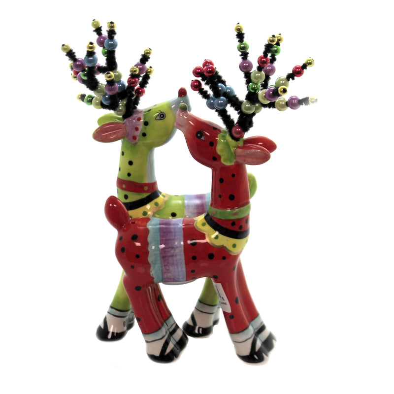 Magnetic Mod Reindeers 61949 Tabletop Salt And Pepper Shakers - SBKGIFTS.COM - SBK Gifts Christmas Shop Cincinnati - Story Book Kids