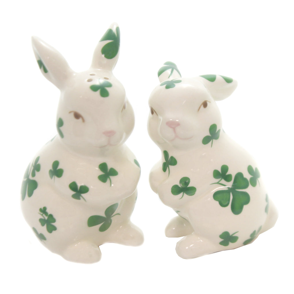 Shamrock Bunnies Salt/Pepper 20895 Tabletop Salt And Pepper Shakers - SBKGIFTS.COM - SBK Gifts Christmas Shop Cincinnati - Story Book Kids