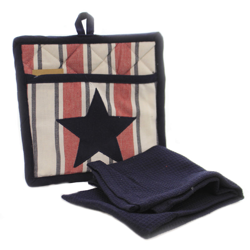 Stars Stripes Pocket Potholder 9099152 Home Decor Decorative Towels - SBKGIFTS.COM - SBK Gifts Christmas Shop Cincinnati - Story Book Kids