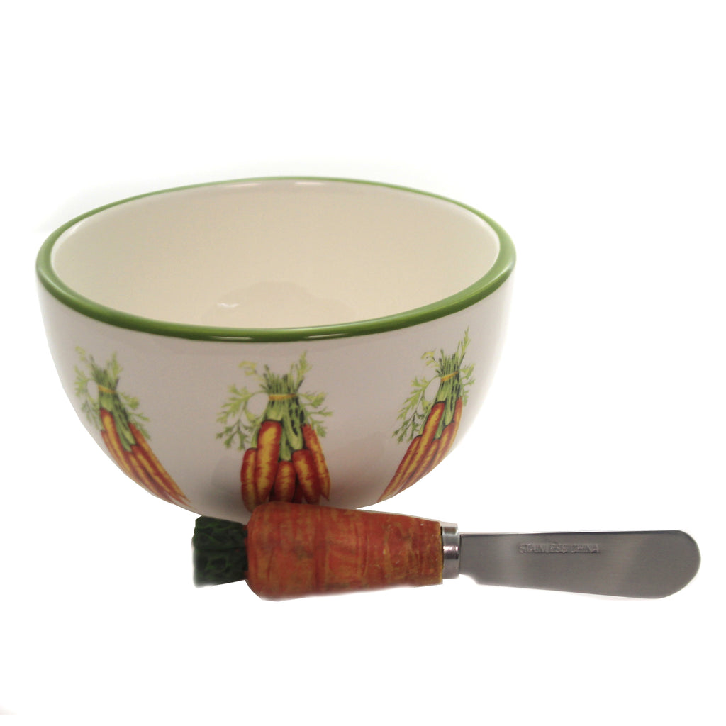Carrot Bowl And Spreader Set Bip15040 Tabletop Other Decorative Serveware And Kitchen Accessories - SBKGIFTS.COM - SBK Gifts Christmas Shop Cincinnati - Story Book Kids