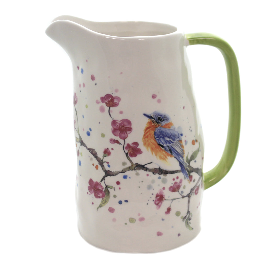 Bird/Cherry Blossoms Pitcher Kac20022 Tabletop Pitchers - SBKGIFTS.COM - SBK Gifts Christmas Shop Cincinnati - Story Book Kids