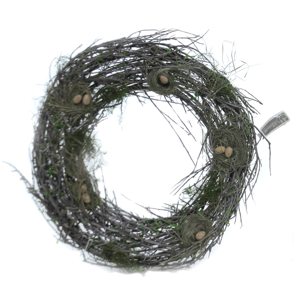 Bird's Nest With Egg Wreath Aew333 Home & Garden Wreaths - SBKGIFTS.COM - SBK Gifts Christmas Shop Cincinnati - Story Book Kids