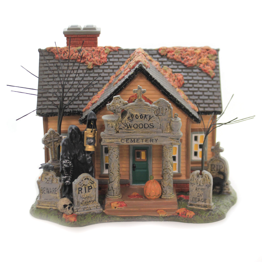 The Cemetery House 6005476 Department 56 Halloween Village Buildings - SBKGIFTS.COM - SBK Gifts Christmas Shop Cincinnati - Story Book Kids