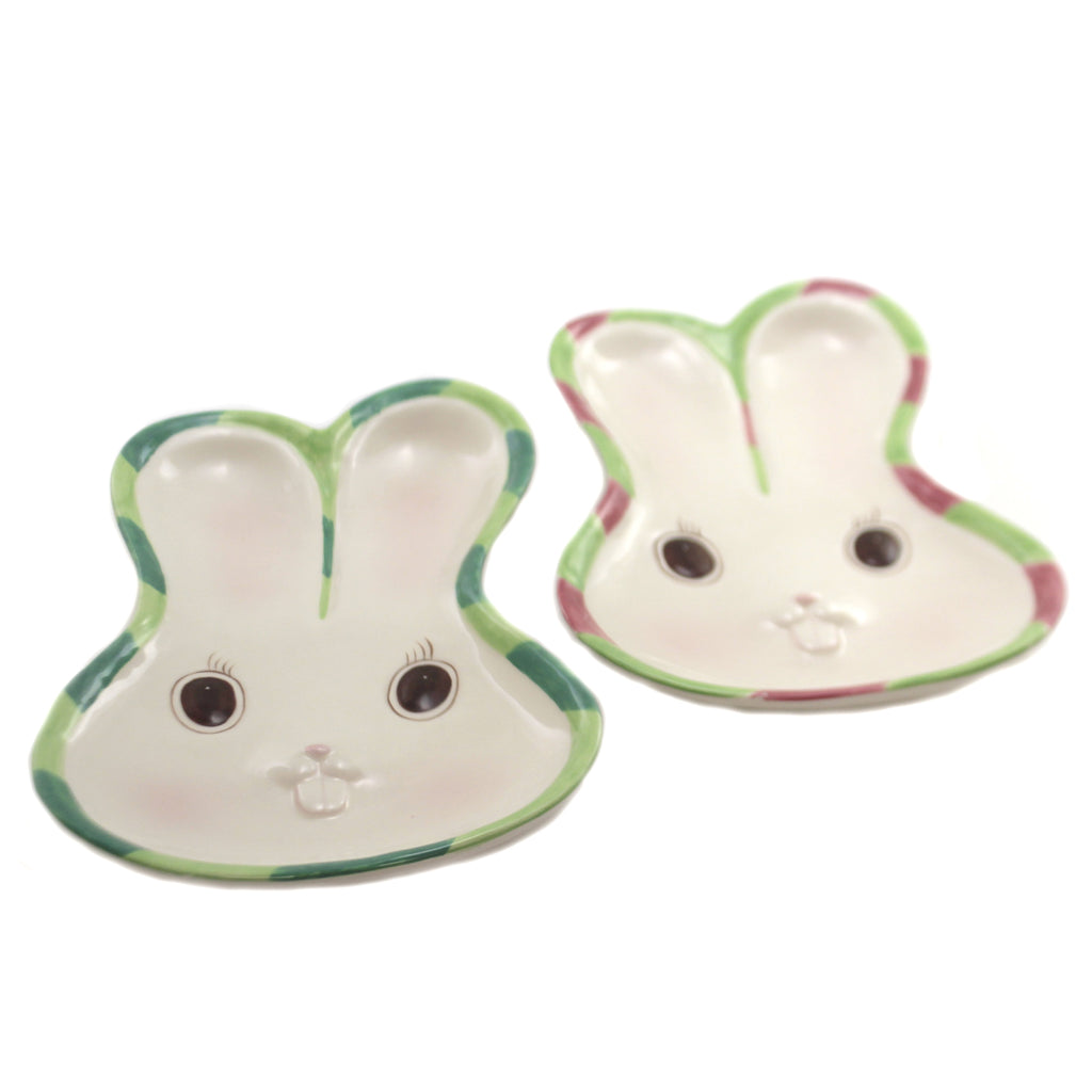 Bunny Friend Forever Plates S/2 20875 Tabletop Plates And Platters - SBKGIFTS.COM - SBK Gifts Christmas Shop Cincinnati - Story Book Kids